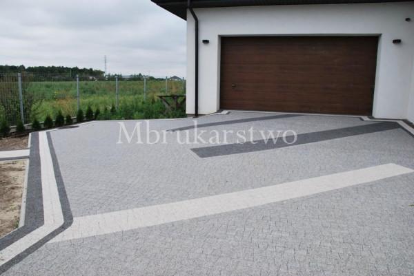 Połączenie Piccoli granito z kolorem bianco carrara i nero.
